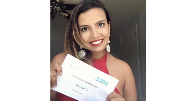 Ganhadora do sorteio de junho: Fernanda