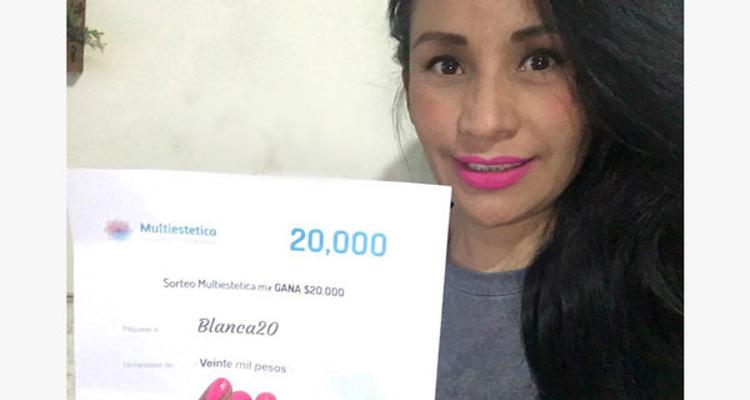 Ganhadora do sorteio de dezembro: Blanca20