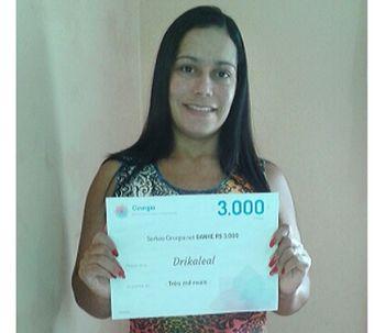 Ganhadora do sorteio de janeiro: Drikaleal