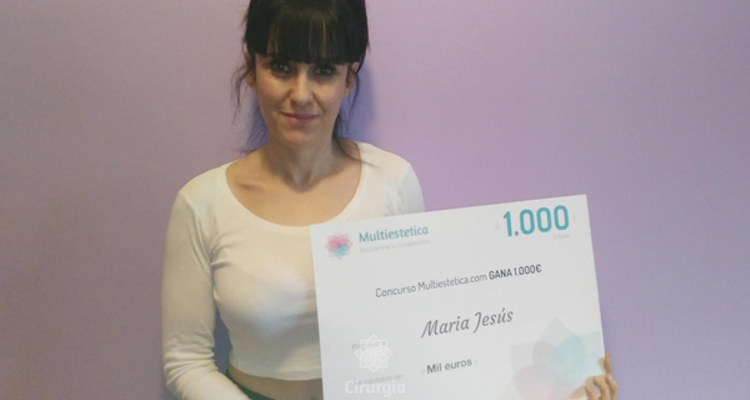 Ganhadora do sorteio de fevereiro: Maria Jesús