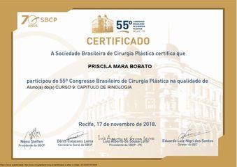 Certificado curso rinologia