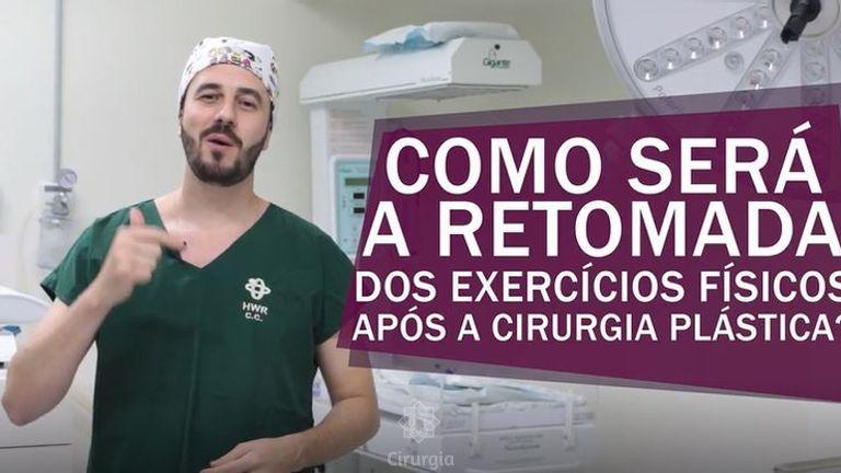 Como será a retomada de exercícios física após a cirurgia plástica?
